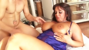 Large breasted age dark spreads her legs and get a skilled lover