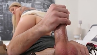 Astounding sexual intercourse within the bedroom by using a restricted blonde