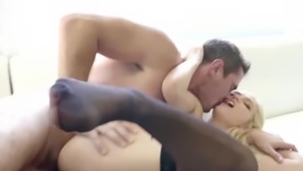Smash Gonzo - Blonde Babe Alex Ash Gets Body hair Strained & Fucked