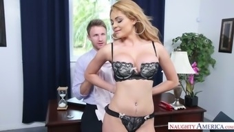 Boss can't stop fucking the most gorgeous study Skyla Novea