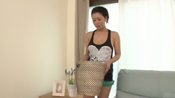 Kinky masturbating Japanese people Rei Kitajima transforms to really moving two dicks