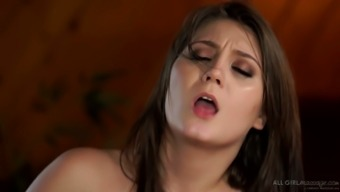 Really great buxom Lena Nicole is very into lesbian intercourse outside