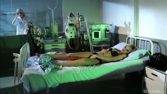 Brandy Smile consists of a fantastic time fucking a hot blonde nurse