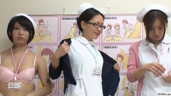 JAV CMNF category of checkout clerks remove naked for sufferer Subtitled