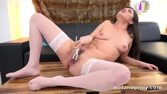 Francesca DiCaprio treasures her vaginal area speculum and she is a best urinate trail