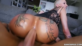 Amazingly sinful and sizzling blonde gf Attractive bella Bellz treasures getting fucked anally