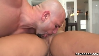 adrian maya gets her fat macronutrients ebony pussy licked and laid a hand