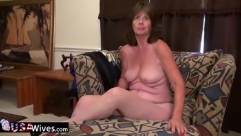 Elder grow older granny independently masturbation and anal toying