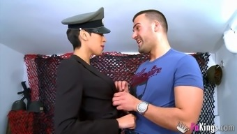 Jasmine Arabia's even travels down and Cristian Frey dicks her very difficult