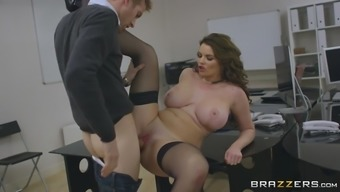 buxom britain nasty person tasha holz gets slammed by her co-worker