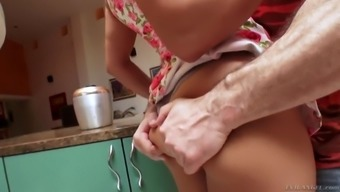 mia li gets her agency butt worshipped in the kitchen