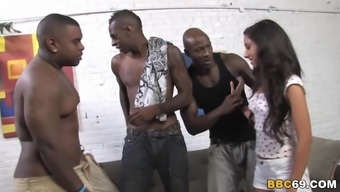 Extrem Anal Gangbang Along with Little Trinity Street. Clair