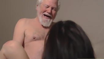 Young adult Interrupts Grandpa from This kind of exercise And Sucks his Penis soppy and difficult