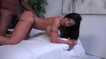 senior jewelz emerald fucks bbc when in front of a stepson