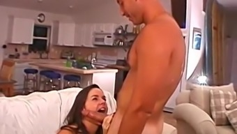 Pretty blonde in attractive intimate apparel is very good at make a dick rigid