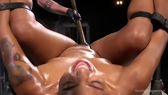 series of hard-core squirting tops with the use of daisy ducati in black jail