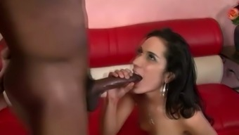 Slutty temptress Tia Cyrus fucks the largest penis she will be able to come across