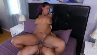 Marvelous just slightly stout chocolate flavored hottie Monique Symone wish to several doggy