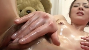 Wife touch fucks pussy and booty in mad Japanese independently