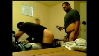 Bearded crossdresser in mordant stockings and ensemble gets fucked raw and natural