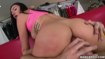 large cock only just can fit marley brinx's veteran butt