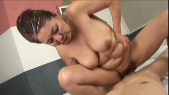anal with the use of asian granny