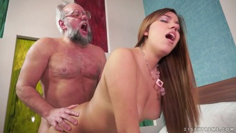 Karla loves to fuck more aged men and he or she knows what's up in floor