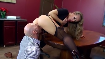 Office extreme with the use of big tits Nicole Aniston