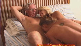 Granny and Grand father fuck Daughter and Offspring