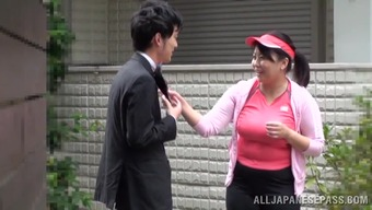 Chunky Japanese mum gets fucked within the christian missionary pose