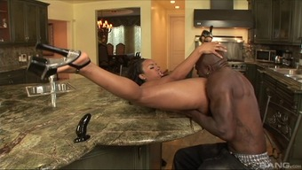 Unique ebony toddler moans while you are getting her asshole stuck through a major cock