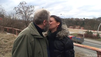 Great Czech pornstar gets fucked by a horny old guy open air