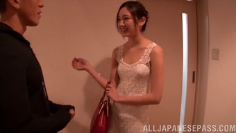 A whole new Japanese future bride gets the fuck of the career with her wedding ceremony overnight