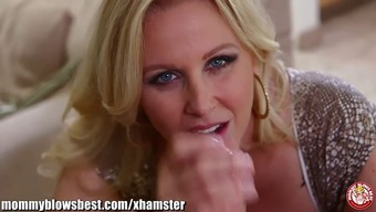 Brown milf Julia Ann knows the woman gives the very best blowjob