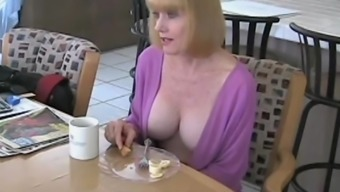Fucking Granny In the cooking area