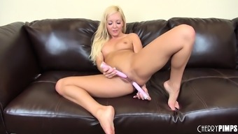 Gorgeous Aaliyah Completely love covers the sofa pushing a dildo fucking illustrate