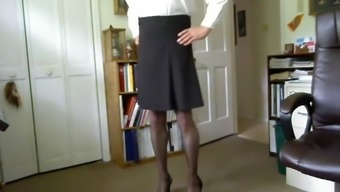 Dressing stockings and heels make him actually feel wished and perverted