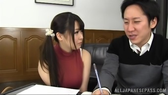 Outstanding blond Asian along with major tits supplying a scintillating tit fuck