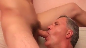 Old bf twiddling with youngster cocks