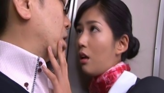 Remarkably luscious Japanese people stewardess gets missing great while you are on the ship