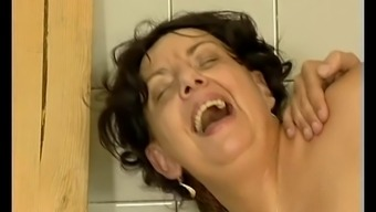 Dark busty old mama gets great cock fucked by younger man