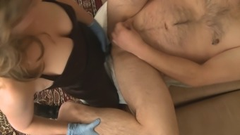 Partner pegging small-dicked boyfriend in the butt