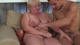 Granny fuck located on the settee with the use of cancer