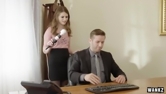 Pervy Boss Fucks Attractive Office Assistant Alice March