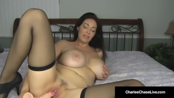 Adhere to Bred Charlee Run after Rubs Her Clit & Interconnects Her Stupid ass!