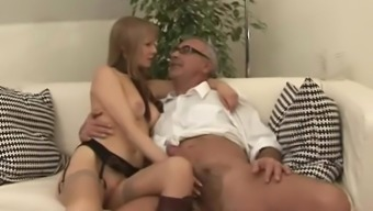 Old man and very hot woman