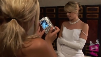 Lena Nicole seduces a surprising bride to be to get within the bridal dress