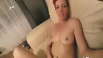Fisting her roomy youngster pussy until she squirts