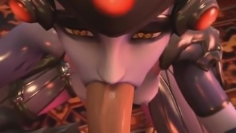 POV with Widowmaker from Overwatch (animation HD)