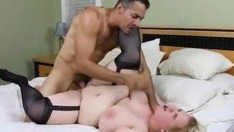 Busty Blonde BBW Nikky Wilder Takes It Immersed in their Stupid ass